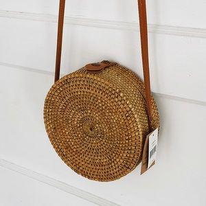 Round Rattan Straw Bag